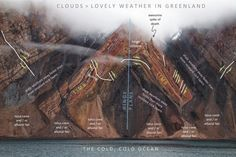 Geology IN: V shaped formation in Greenland