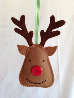 Christmas Decorations Felt Reindeer by MichelleGood on Etsy, £5.25