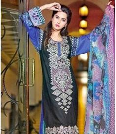 Karam Embroidered  Lawn Suits Collection 790_B