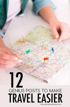 12 Genius Posts to Make Travel Easier from www.thirtyhandmadedays.com