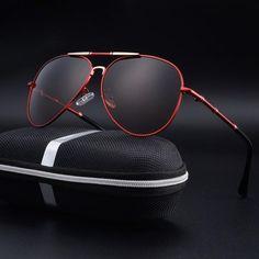 FuzWeb:Aluminum Magnesium Sunglasses Men er Polarized Sports Male Classic Pilot Luxury Eyeglasses