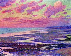 The Beach At Ambleteuse At Low Tide Theo van Rysselberghe, 1900