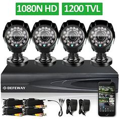DEFEWAY 1080N DVR 1200TVL 720P HD Outdoor Home Security Video Surveillance Camera System no Hard Drive * Find out more about the great product at the image link.