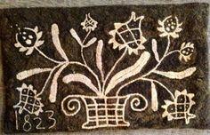 Maggie B - primitive rug hooking