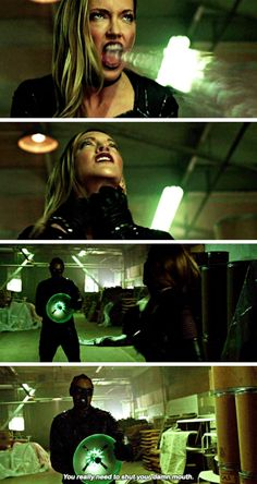 """#Arrow 5x10 """"Who Are You?"""" - """"You really need to shut your damn mouth"""" - #CurtisHolt #BlackSiren"""