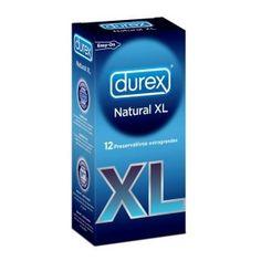 Durex Preservativo Natural XL 2 unidades, condon extralubricado con latex de caucho natural con forma anatomica easy-on con deposito, con an...