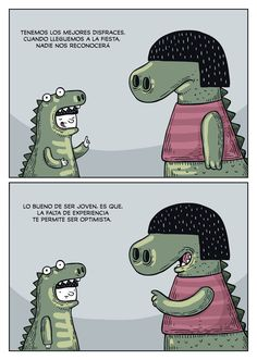 @albertomontt Optimista T Rex Humor, Humor Grafico, More Than Words, Memes, Bff, Lily, Draw, Illustration, Funny