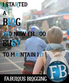 I'm going to attempt to cut through the crowded blogging lingo and help you focus on what you should be doing if you've started a blog and now find yourself without time to maintain it.