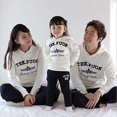 Family's Fashion Leisure Parent Child Pentagram Long Sleeve Hooded Exercise Clothing Set – USD $ 26.00