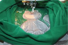Hooping and appliqueing on tee shirts