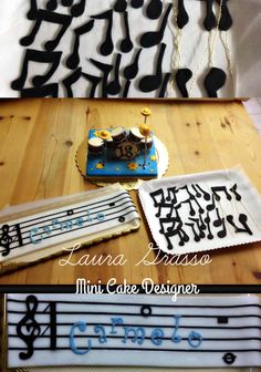 Music theme cake toppers ...