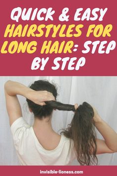 Looking for some quick and easy step by step hairstyles for long hair? This guide will help! Long Hair Tips, Grow Long Hair, Easy Hairstyles For Long Hair, Diy Hairstyles, Healthy Hair Tips, Healthy Hair Growth, Diy Hair Care, Hair Care Tips, Growing Out Short Hair Styles