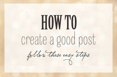 How to create a Good Post by Reliable4You.com, http://reliable4you.com/what-is-a-dynamic-site-or-blog-why-should-we-use-or-create-it/