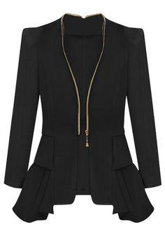 Tunic Blazer - Black