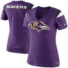 Nike Baltimore Ravens Ladies Fashion Football Premium T-Shirt - Purple  Baltimore Ravens f957d0244