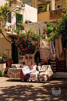 Crete-Greece LOVE BRINGING THE BEAUTIFUL LACE CURTAINS AND CLOTHS HOME.  A BEAUTIFUL REMINDER OF SUNNY HOLIDAYS