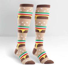 Double Double Cheeseburger Women's Knee High Sock
