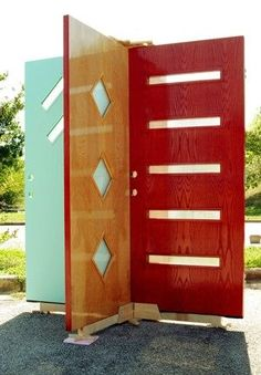 Beautiful Mid-century doors!