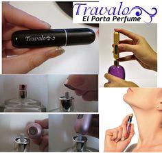 Hechiza con el sublime aroma de tu perfume todo el día con El Porta Perfume TRAVALO............