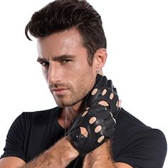 MATSU Mens Super Soft Fingerless Driving Leather Black Gloves Available for Rivets DIY M813 (S, Black) Matsu Gloves http://www.amazon.com/dp/B013LAAZC8/ref=cm_sw_r_pi_dp_KqJ-vb0ZYYNX0