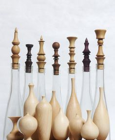 Pin by 都护府 on Knife in 2020 Wood Shop Projects, Wood Turning Projects, Diy Craft Projects, Flower Vase Design, Flower Vases, Vase Centerpieces, Vases Decor, Wood Bird, Clear Glass Vases