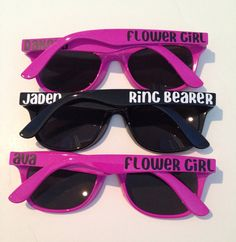 Ring Bearer Gift, Flower Girl Gift, Ring Security, Child Size Sunglasses on Etsy, $7.95