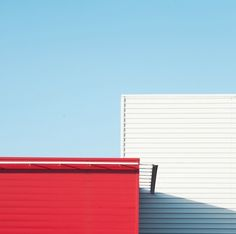 """Geometric and Colored Architecture in Brittany  French photographer Matthieu Venot created a picture series entitled """"Prism"""", in which he catches the colored and geometric architecture of the city of Brest, in the Brittany region in France. These colors associated with the Breton blue sky gives an original collection through the half-frame framing and the shot angle, that give all sparkle to photographed details."""