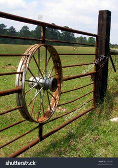 Stock Images similar to ID 69826 - wagon wheel fence