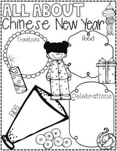 Chinese New Year {Literacy Activities for Little Learners}. Modify for Japan unit