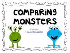 Classroom Freebies: Comparing Monsters!