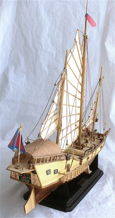 Here are some more images of Artesania Latinas scale Chinese Junk Red Dragon. These ships plied the rivers and oceans of the. Chinese Boat, Junk Ship, Warhammer Wood Elves, Scale Model Ships, Model Ship Building, Boat Projects, Boat Painting, Wooden Ship, Nautical Art
