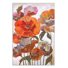 Uttermost Delightful Poppies Floral Art