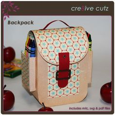 Cre8ive Cutz - SVG and MTC Cutting Files and Projects for Electronic Cutting Machines: New in the 99 Cent Store - Backpack SVG Cutting File