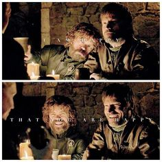 """— ❋ jaime & tyrion lannister ❋ — """" i'm happy that you're happy. """" — omg i loved seeing them like this why is this so rare i need more of… Jamie Lannister And Brienne, Game Of Thrones Tyrion, Jaime And Brienne, Nikolaj Coster Waldau, The North Remembers, Arya Stark, Book Fandoms, Movie Tv, Tv Shows"""