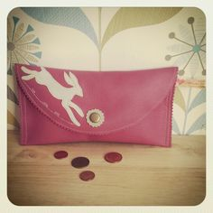 Handmade Leather Hare Purse by Eco Love Bubble. Available on Etsy at www.etsy.com/shop/ecolovebubble