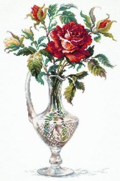 Unopened Russian Counted Cross Stitch Kit Wonderful Needle Red Rose for sale online Cross Stitch Bird, Counted Cross Stitch Kits, Cross Stitch Flowers, Cross Stitching, Cross Stitch Embroidery, Modern Cross Stitch Patterns, Cross Stitch Designs, Rose Crafts, Diy Flowers