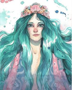 As ilustrações lindas da Esther Gili! Character Art, Character Design, Water Nymphs, Pretty Drawings, Face Sketch, Woman Illustration, Drawing People, Face Art, Painting Inspiration