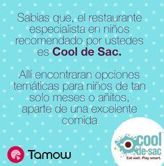 #RecomendadoDelDía El restaurante Cool de Sac - Colombia ha sido la recomendación por los Tamowers para quienes buscan buena comida y entretenimiento temático para niños.