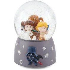 Star Wars Snow Globe ($24) ❤ liked on Polyvore featuring home, home decor, holiday decorations, christmas, christmas home decor, holiday home decor, glass snow globes, disney snowglobes and disney water globes