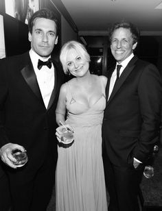 Jon Hamm, Amy Poehler, and Seth Meyers