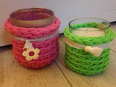 Free Tealight Holder Crochet Patternby kanelsnackan. 'A super easy and super quick project. Size is adjustable using different size hook.'
