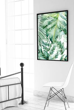 Monstera, Botanical print, Palm leaf, Wall art, Monstera leaf ...