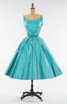 Leather cocktail dress, 1954 by Bonnie Cashin. --- (Cashin's unconventional design process on blog.)