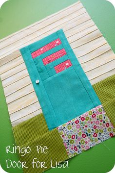 a quilting bee I'm in - how cool is this block!