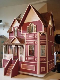 Victorian Dollhouses -  this dollhouse is the same style as my childhood dollhouse that my dad built for me!!