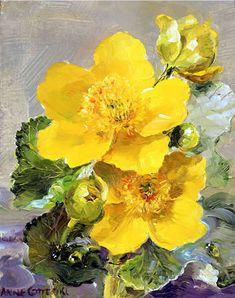 Kingcups | Mill House Fine Art – Publishers of Anne Cotterill Flower Art