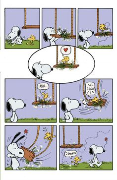 snoopy and woodstock swings comic strip