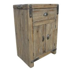 Rustic Forge Cabinet in Reclaimed Natural