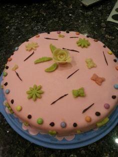 Gâteau rose #fleurs