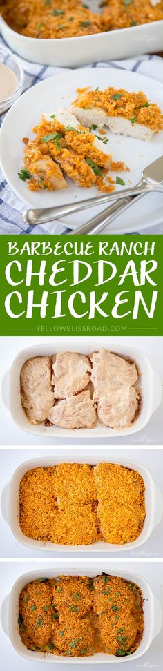Barbecue Ranch Cheddar Baked Chicken